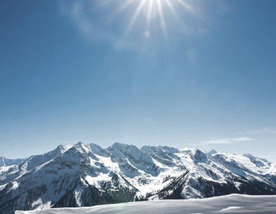 Zillertaler Skigebiete Tirol Berge Urlaub Pauschalreisen